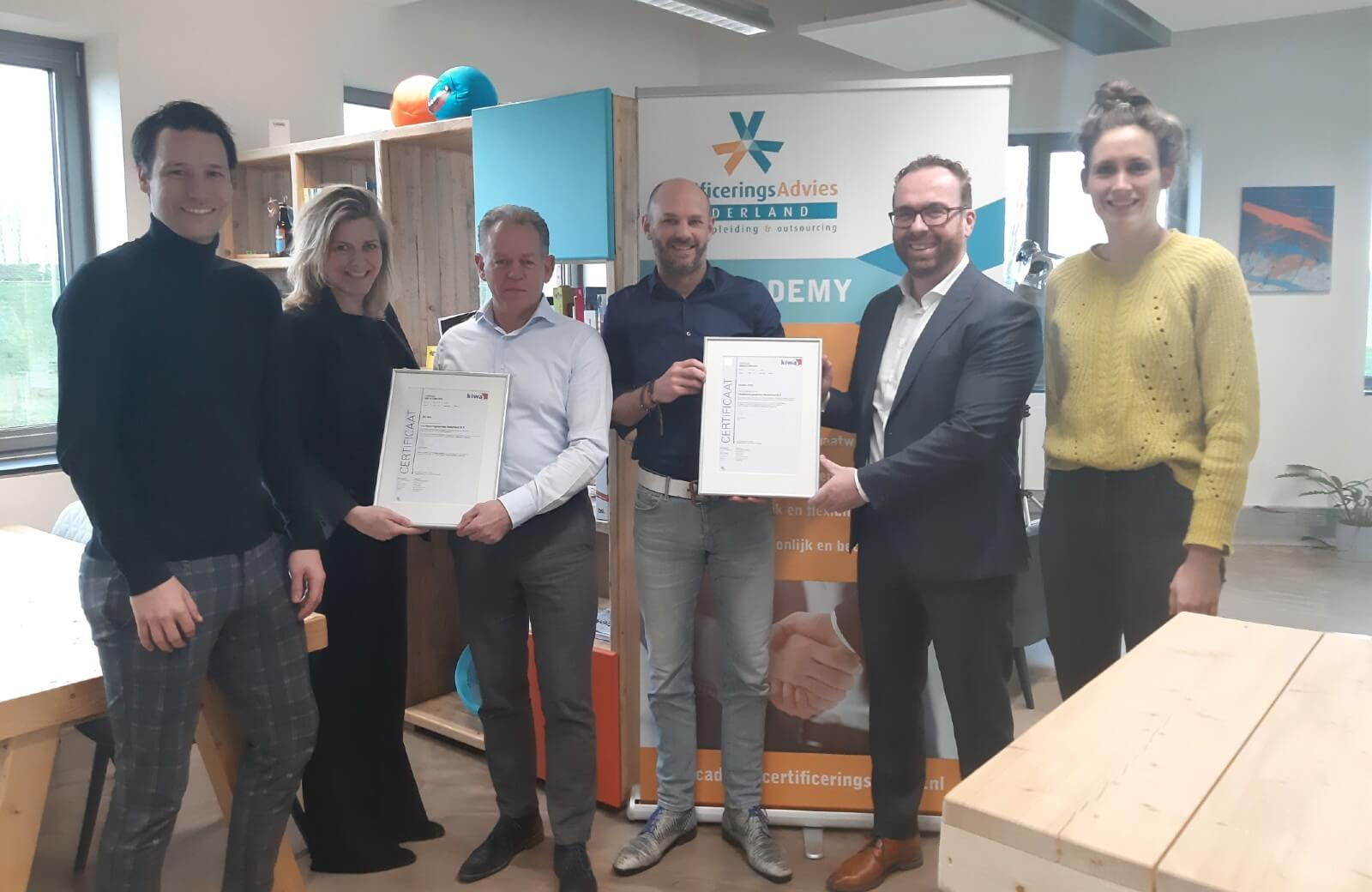 CAN ISO 9001 en ISO 27001 gecertificeerd